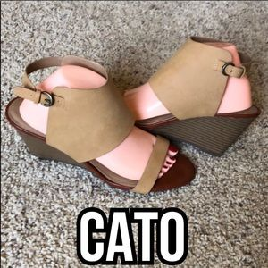 Cato Tan Wedges Size 10 M